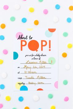 "Free Printable ""About to Pop"" Baby Shower Invitation"