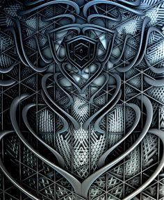 Untitled 3d fractal art Mandelbulb3d Paul Griffitts http://www.frackxion.com