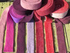 Filzband 7,5 cm, tolle Farben,rosa,bordeaux,lila von Sonja Sonnenschein auf DaWanda.com