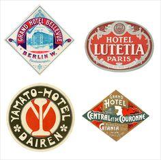 Bochini Pet Designs: Hotel Labels