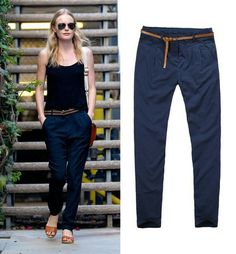 Kate Bosworth Navy Blue Pants with Pockets