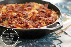 Cheesy Chicken and Rice Skillet Dinner with Bacon 1 ltext 3
