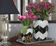 Nate Berkus Vases at Target! Love the chevron vase. Not so much what's in it but the vase is very cool.