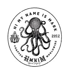 himynameismark #logo #retro #octopus
