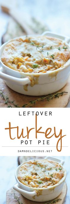 Leftover Thanksgiving Turkey Pot Pie | http://damndelicious.net/