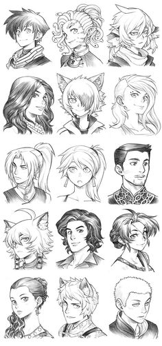 160313 - Headshot Commissions Sketch Dump 17 by Runshin