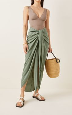 Draped Skirt, Flowy Skirt, Casual Summer Dresses, Casual Wear, Georgette Fabric, Signature Style, Skirt Outfits, Everyday Outfits, Skirts
