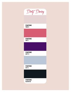 Dirty Dancing Color Palette - Beth Mathews Design