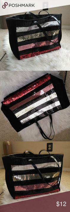 Victoria secret bling bag Super cute and very bling, Victoria secret tote! Took out of bag and it's been hanging out in my closet! Victoria's Secret Bags Totes