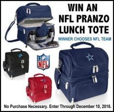 Win an NFL Pranzo Lunch ToteValued at $70!  (Choose Your Team) via  http://virl.io/QZAispHZ #win
