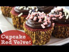 Como fazer Cupcake Red Velvet recheado com Chocolate Cremoso