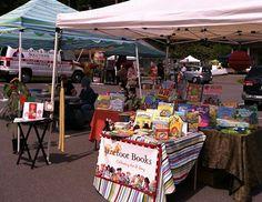 Barefoot Books Ambassadors at farmers' markets!