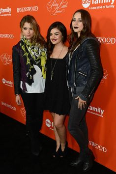 Ashley Benson, Troian Bellisario & Lucy Hale at the PLL Halloween special Screening