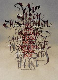 Ute Felgendreher - meber of the Global Calligraphy Vienna Calligraphy Cards, Museum, Brush Lettering, Vienna, Moose Art, Typography, Graphic Design, Penmanship, Kunst