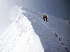 Gasherbrum II summit. Terrifying. Ice Climbing, Mountain Climbing, Bergen, Gasherbrum Ii, Trekking, Alpine Mountain, Hills And Valleys, Escalade, Kayak