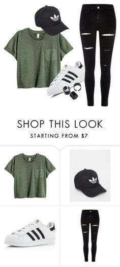 """I'm tired"" by gabytheunicorn ❤ liked on Polyvore featuring adidas and River Island"