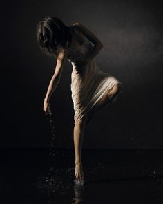 Beautiful, graceful, and faceless dancer.