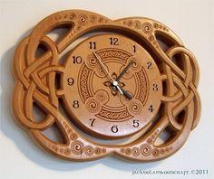 Celtic Knot Clock by jackdolanwoodcraft on Etsy, €120.00