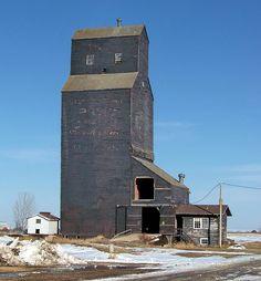 SK10c158 Grain Elevator at Riverhurst, Saskatchewan 2010 by CanadaGood, via Flickr