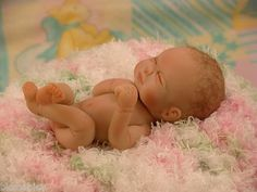 OOAK Polymer Clay Full Sculpt Baby Newborn | eBay