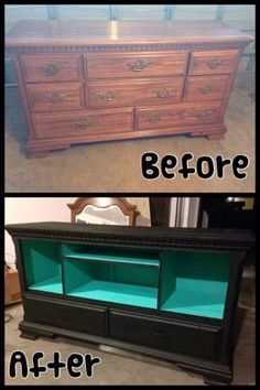 New entertainment center, made from old dresser. by nannie