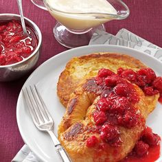 Need french toast recipes? Get french toast recipes for your next morning breakfast from Taste of Home. Taste of Home has french toast recipes including baked french toast, cinnamon french toast, and more french toast recipes. Breakfast Time, Breakfast Dishes, Best Breakfast, Breakfast Recipes, Breakfast Ideas, Breakfast Specials, Breakfast Plate, Easter Recipes, Brunch Recipes