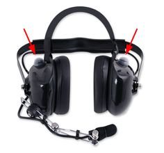 H60 Dual Radio headset with Dual PTT by rugged radios