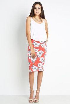 Floral Pencil Skirt | Shop Dressy Outfits at Papaya Clothing