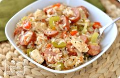 Chicken and sausage Jambalaya...(not that i have ever made Jambalaya, but it looks super yummy!)
