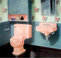 1000 Images About 1950s Bathroom On Pinterest 1950s