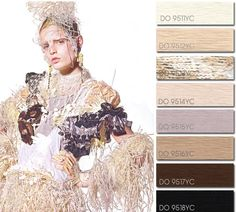 Spring Summer 2014, contemporary women's color trend report, nude couture color board