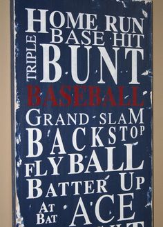 Baseball room wall art