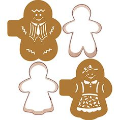 Gingerbread Couple Cookie Cutters and Stencil Set