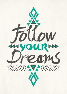 """Follow Your Dreams"" metal poster by Pom Graphic Design #boho"