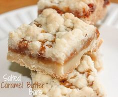 Salted Caramel Butter Bars. Ok everyone...this is the recipe I was telling you about!  Omg!