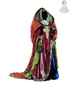 Christian Lacroix, costume for Panope, silk velvet, from Racine's Phèdre play, Anne Delbée, 1995