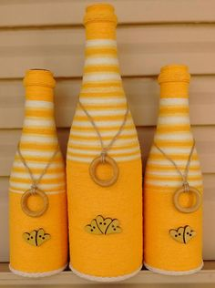 Wine Bottle Crafts – Make the Best Use of Your Wine Bottles – Drinks Paradise Glass Bottle Crafts, Wine Bottle Art, Diy Bottle, Bottle Vase, Beer Bottle, Recycled Wine Bottles, Painted Wine Bottles, Bottles And Jars, Glass Bottles
