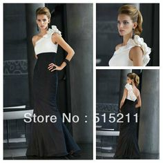 Hot Sale 2014 One Shoulder Pleated Satin Mother Of The Bride Dress Modest Prom Evening Gown US $139.99