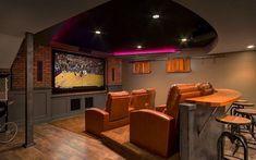 basement home theatre pictures #hometheatreprojectors #hometheaterinstallation