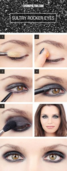 If you've always wanted to be a rocker chic, start with these super smoky eyes.