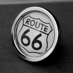 Route 66 Cabinet Knob by Daisy Mae Designs eclectic knobs