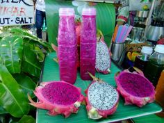 Purple dragon fruit Purple Dragon Fruit, Watermelon, Food, Eten, Meals, Diet