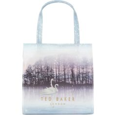 df1078f18b1a43 TED BAKER Sollcon sparkling swan shopper ( 36) ❤ liked on Polyvore  featuring bags