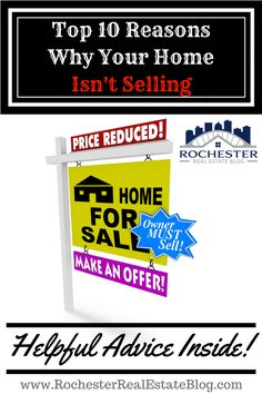Top 10 Reasons Why Your Home Isn't Selling - http://www.rochesterrealestateblog.com/reasons-why-your-home-isnt-selling/ via @KyleHiscockRE
