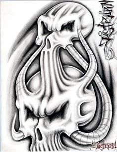 2007 skulls by on DeviantArt Evil Skull Tattoo, Skull Tattoos, Cool Tattoos, Clown Tattoo, Sleeve Tattoos, Skull Stencil, Tattoo Stencils, Tattoo Fonts, Tattoo Design Drawings