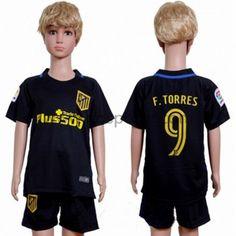 Atletico Madrid maillot de foot enfant 2016-17 Fernando Torres 9 maillot extérieur