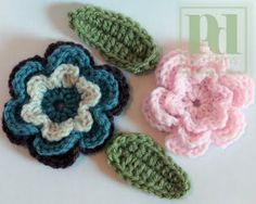 This is a 3-tiered flower, and takes a little while to make, but it's really fun and quite pretty!