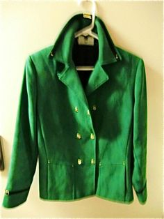ST JOHN JACKET  PEA COAT FAUX SUEDE FEMININE S SO CUTE IRISH ST PADDY'S DAY GIRL #StJohn #PEACOAT