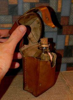 Custom Steampunk Canteen Flask Belt Pouch  by CuriosityShopper