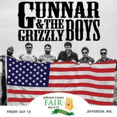 """Friday July 10th Gunnar & The Grizzly Boys will open for Chris Cagle on the Main Stage! Haven't heard of them yet? Check out their Facebook page & listen to """"Standard American"""", """"Pedal To The Floor"""" or any of their other songs. They are a country rockin' awesome band and if you like country music, you'll love these guys!!"""